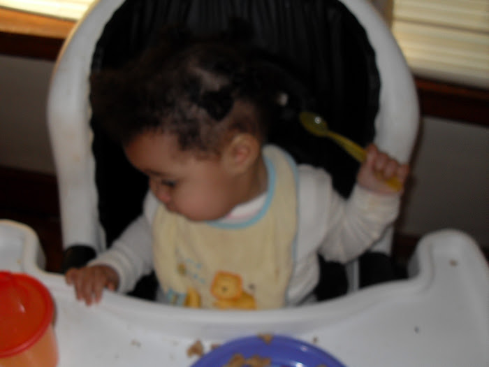 Jordin Learning to Feed Herself