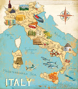 I have been working on an illustrated map of Italy for a few weeks now on . (italymapfinal)