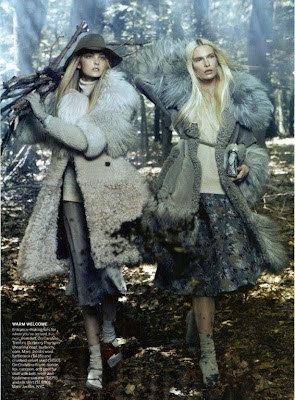Caroline Trentini and Christina Kruse by Steven Meisel for Vogue America August 2010