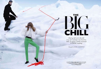 Abbey Lee Kershaw, Sebastian Lund and Brad Kroenig by Karl Lagerfeld for Harpers Bazaar US October 2010, part 2