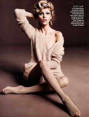 Anja Rubik by Marcin Tyszka for Vogue Latin America October 2010