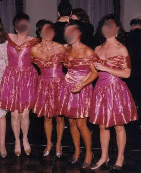 Bad Wedding Dresses: Kitty Boo Boo: Worst Bridesmaids Dresses Ever?