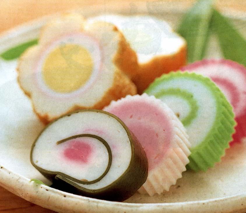 Pink White Japanese Fish Cake