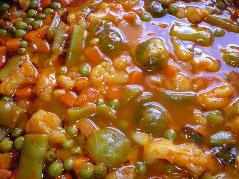 Menestra - Menestra de verduras en texturas ...
