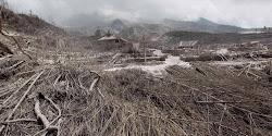 akibat letusan gunung merapi