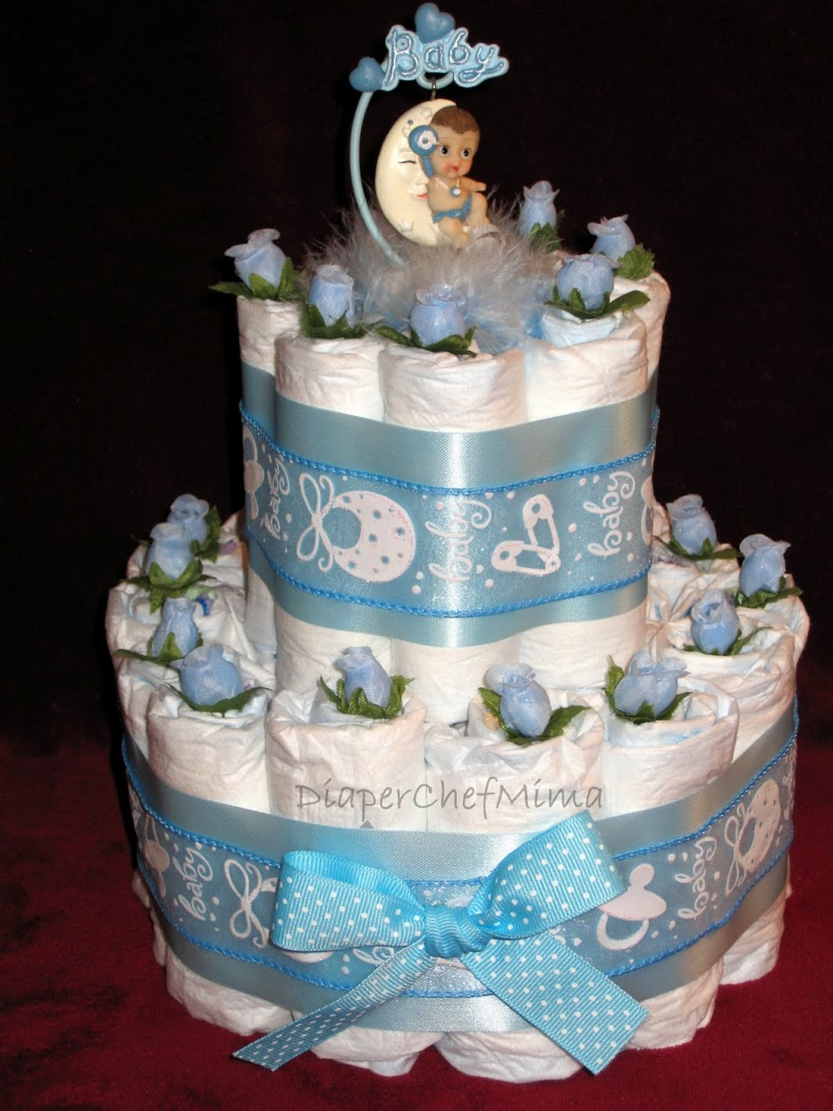 Boy Diaper Cake Decorations : Diaper Cake Ideas For Baby Boys And Girls Pasada2804