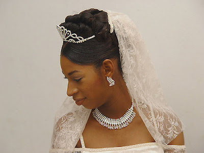African American Wedding Hairstyles Hairdos Real Bride Updo