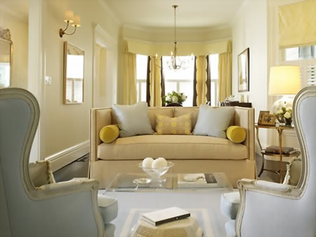 My finer consigner tried and true happy color schemes - Blue and yellow living room ...