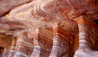 Wind Blown Ancient Tombs Petra Jordan