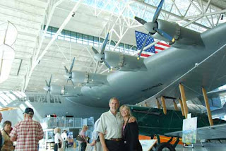 Wayne Pat Dunlap with the Spruce Goose - Evergreen Aviation Museum, Orego