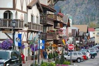 Downtown Leavenworth, Washington, USA