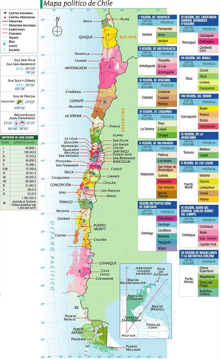 Mapa De Chile Con Todos Los Pueblos Indigenas