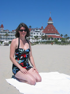 My retro swimsuit, on vacation in San Diego!