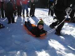 Parker in the Sled Race