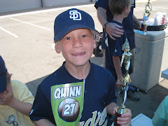Quinn getting Baseball Trophy