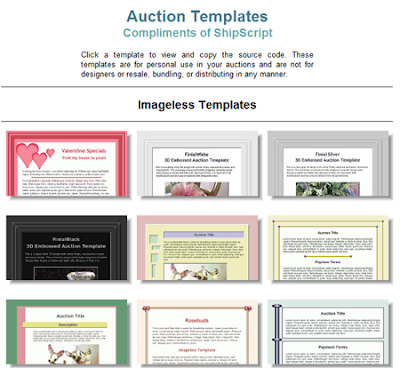 auctions templates