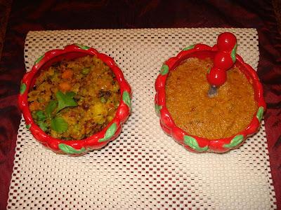 Preethi's online cookbook: Mysore Masala Dosa / Set Dosa