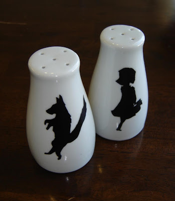 little red riding hood and big bad wolf salt and pepper shakers