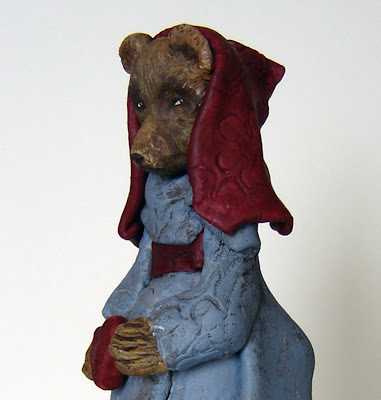 Bear Folk Art Sculpture