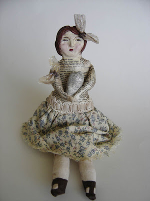 Recycled art doll