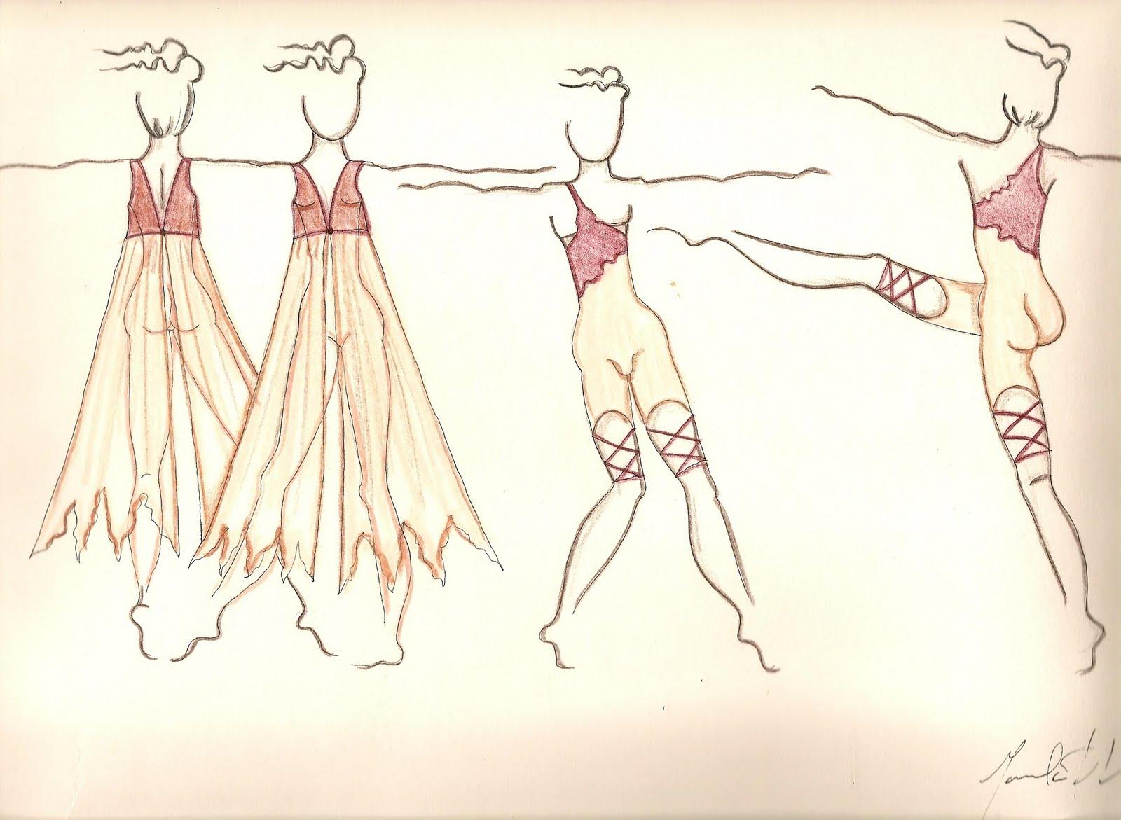 Dise  O De Vestuario Para  Pa  Ia De Danza Contemporanea Coreoarte