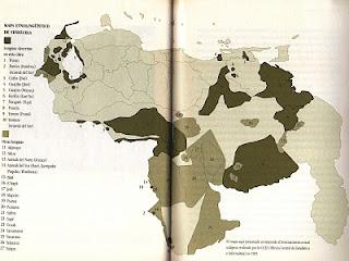 Mapa etnolingüístico de Venezuela