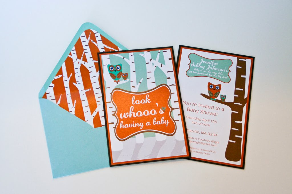 inspiration dc owl themed baby shower invitation