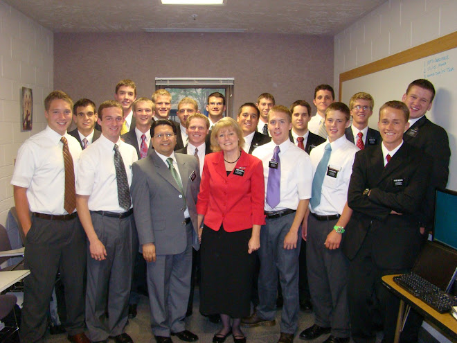 Preston's MTC District with President and Sister Antivilo