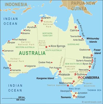 Australie update nr 1
