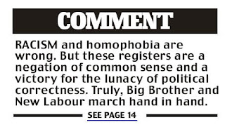 from Daily Mail front page - 4 March 2010
