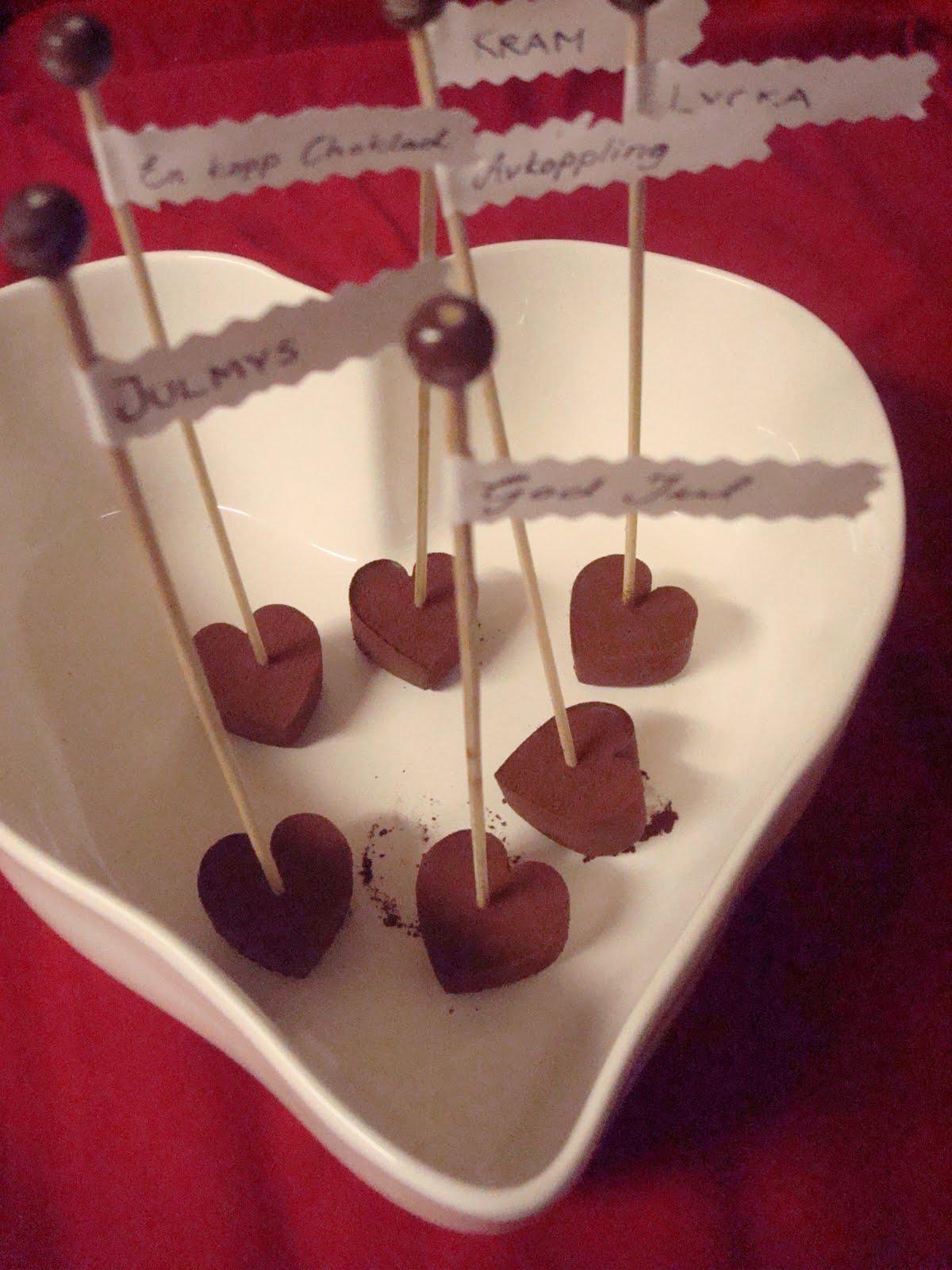 chokladklubbor till varm choklad