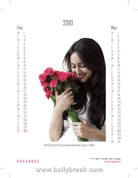 Sonakshi Sinha 2010 calendar - Download Free