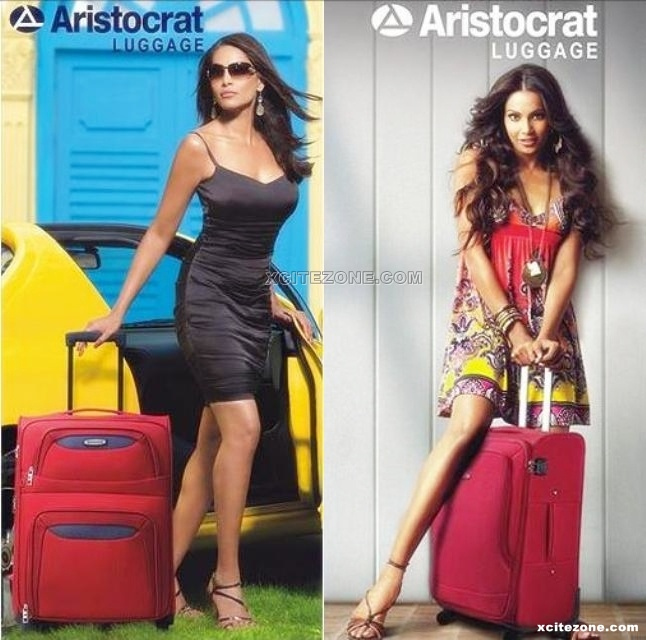 Bipasha Basu Hot Aristocart Luggage Ads