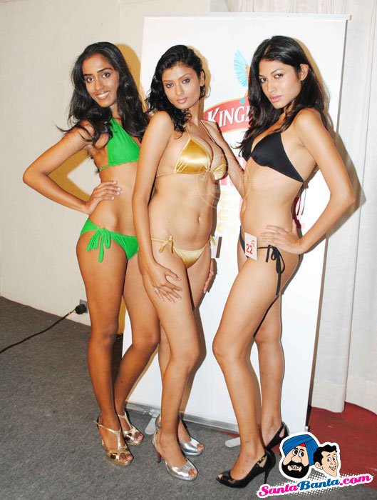 Hot Babes Audition in Bikini for Kingfisher Calendar 2011