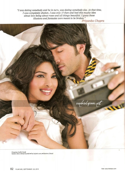 Priyanka Chopra Hot Filmfare Scans with Ranbir Kapoor