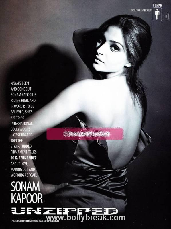 Sonam Kapoor Man Magazine Scans - Unzipped