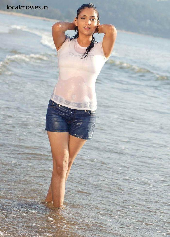 , Ramya Hot Beach Stills