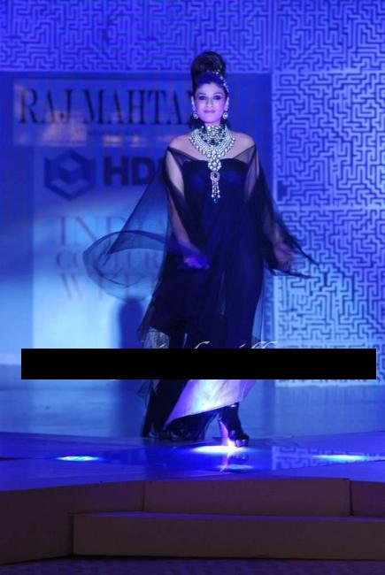 Raveena Tandon walks the Ramp for Raj Mahtani - Hdil Fashion Week