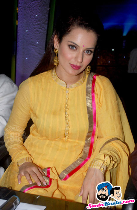 Kangana Ranaut sizzles in Yellow Suit at Knock Out Music Launch