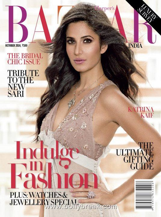 Katrina Kaif Harper's Bazaar Cover October 2010