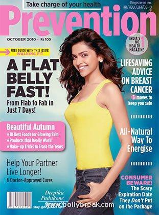 Deepika Padukone Prevention Mag cover Scan - october 2010