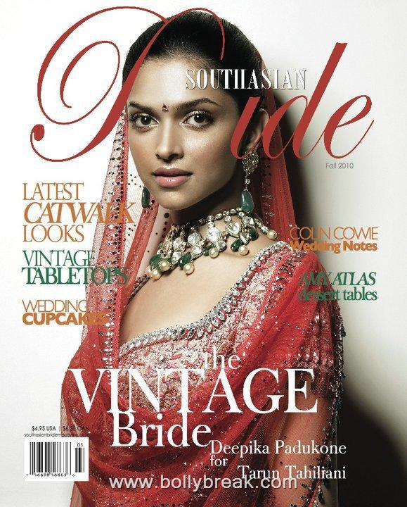 Deepika Padukone Elegant South Asian Bride Cover Scan