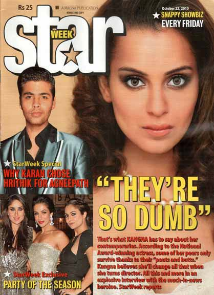 Kangana Ranaut Star Week Cover