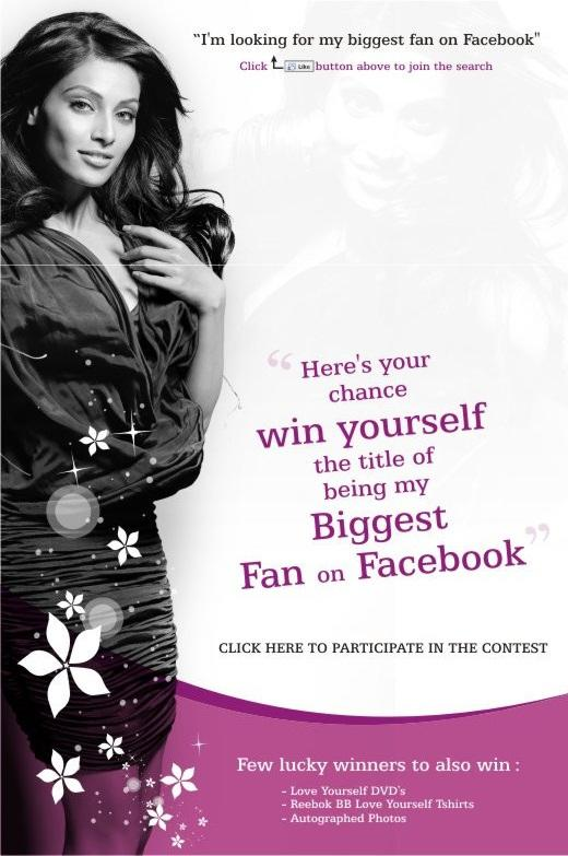  Bipasha Basu Greatest Fan Contest Ad Poster