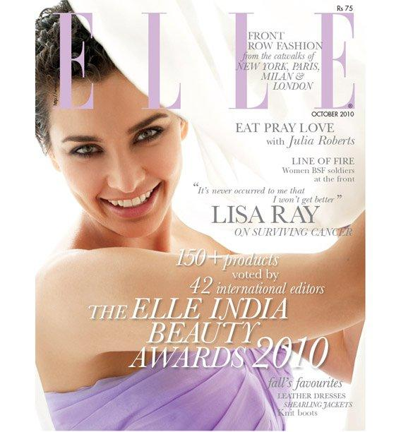  Lisa Ray Elle October Cover Scan