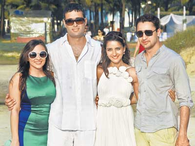 , Shruti Seth Marriage Pics from Goa