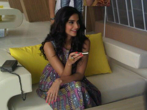 Sonam Kapoor Shoots For Spice Mobile Ad