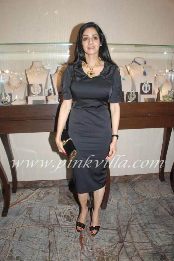 Sexy Sridevi in Black at Farah Khan's Store Launch