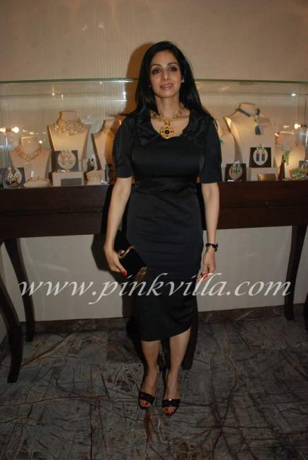 , Sexy Sridevi in Black at Farah Khan's Store Launch