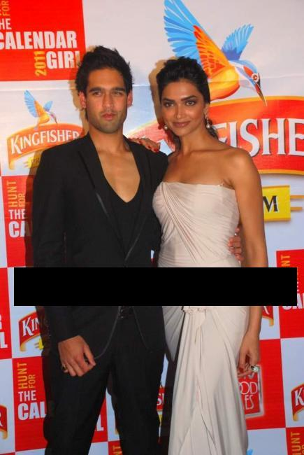 Deepika Padukone at Kingfisher Calender event with Mallaya Jr